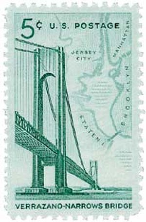 1964 5c Verrazano-Narrows Bridge
