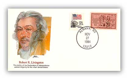 Item #126586 – Commemorative cover marking Livingston's 238th birthday.
