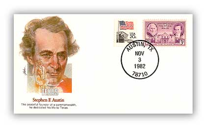 Item #126800 – Commemorative cover marking Austin's 189th birthday.