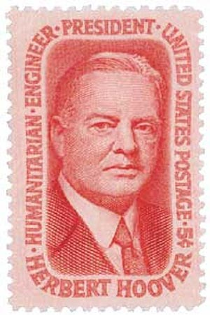 U.S. #1269 was issued on Hoover's 91st birthday.
