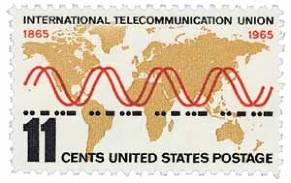 1965 11c International Telecommunication Union