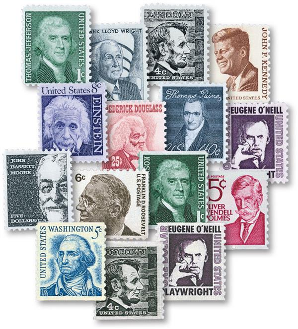 Complete Set of 30, 1961-81 Prominent Americans Series, including coils