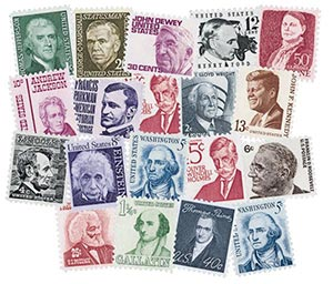 1965-78 1c-50c Prominent American Series set of 19 stamps