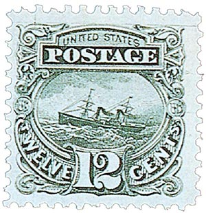 1875 12c S.S. Adriatic, green