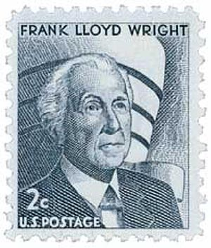 1966 2c Prominent Americans: Frank Lloyd Wright