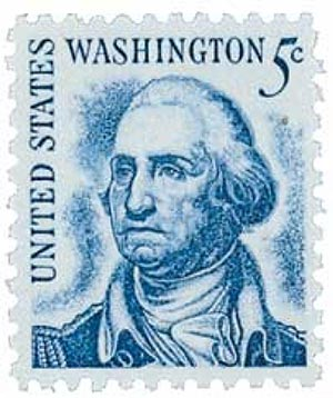 1966 5c Prominent Americans: George Washington