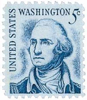 1967 5c George Washington, redrawn