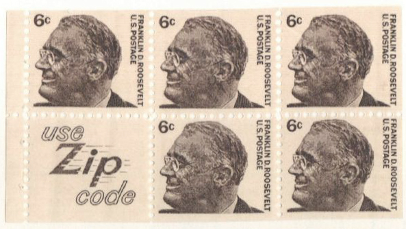 1965-78 6c Franklin D. Roosevelt,5+label