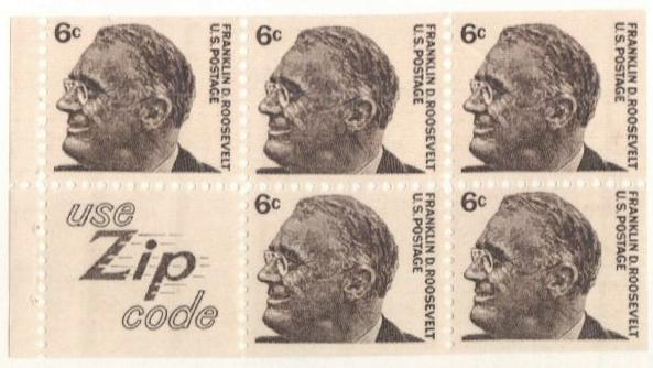 1965-78 6c Franklin D. Roosevelt,5+label