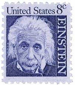 1966 8c Prominent Americans: Albert Einstein