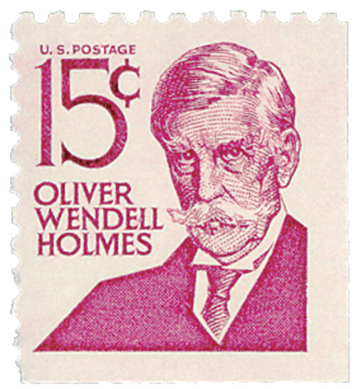 1978 15c Oliver W. Holmes, booklet single