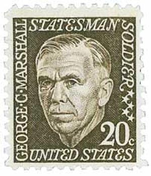 1967 20c George Catlett Marshall For Sale At Mystic Stamp Company
