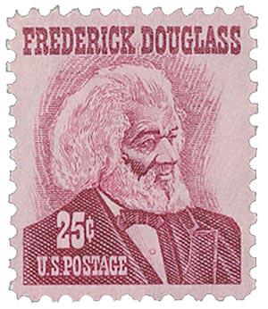 1967 25c Frederick Douglass, magenta