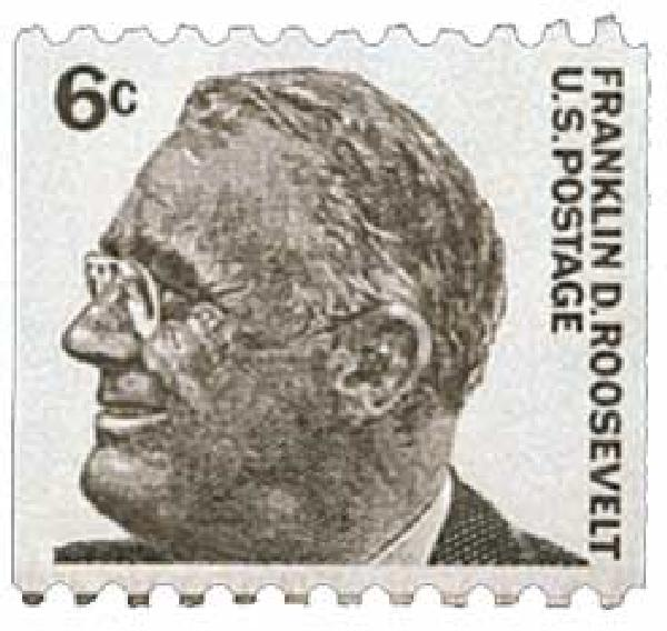 1967 6c Prominent Americans: Franklin D. Roosevelt, perf 10 horizontal
