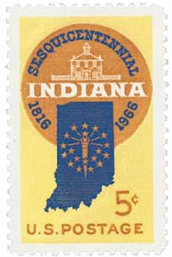 1966 5c Indiana Statehood