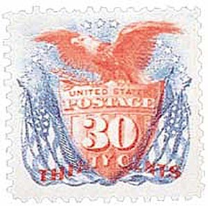 1875 30c Shield, Eagle and Flag