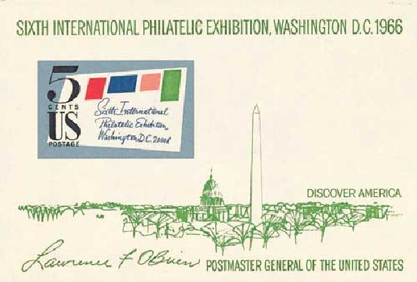 1966 5c SIPEX souvenir sheet