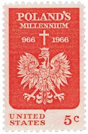 1966 5c Polish Millennium