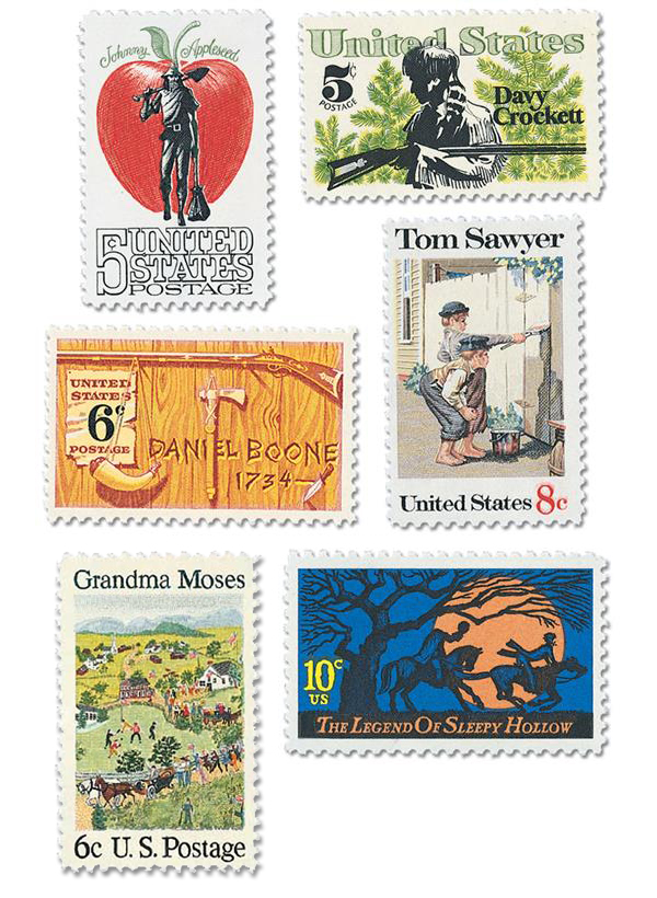 Complete Set of 5, 1966-74 American Folklore