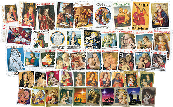 1966-2018 Traditional Christmas set of 48 stamps