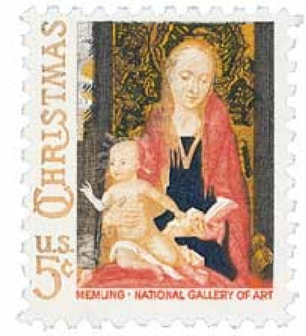 1966 5c Traditional Christmas: Madonna and Child