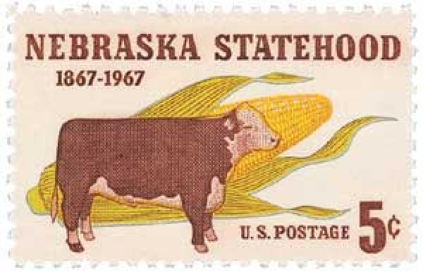 1967 5c Nebraska Statehood
