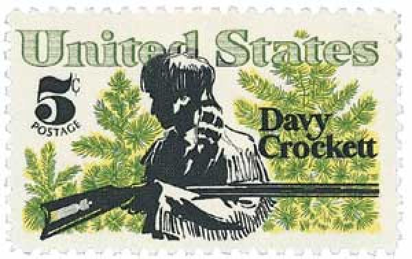 1967 5c Davy Crockett and Scrub