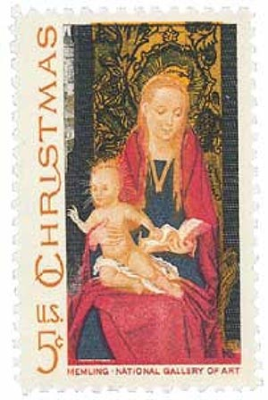 1967 5c Christmas Madonna and Child