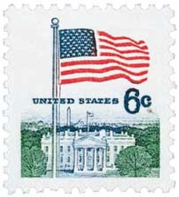 1968 6c Flag and White House