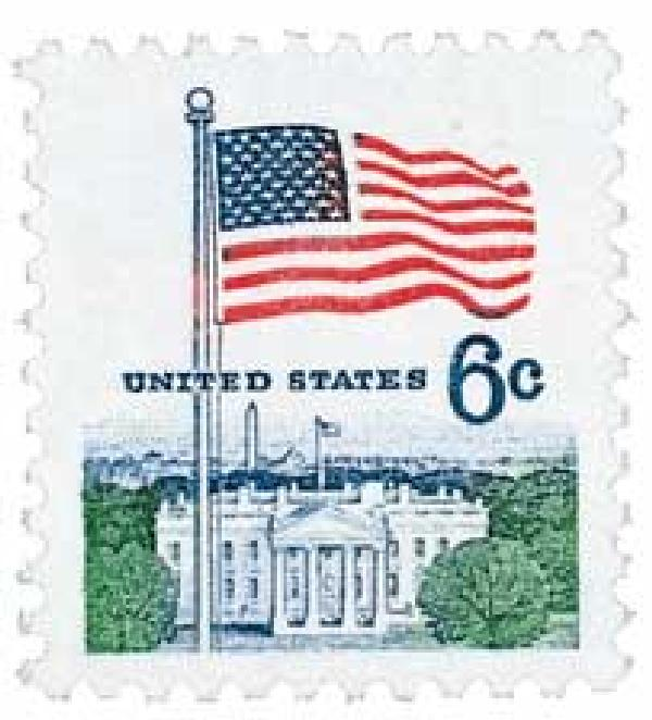 1970 6c Flag and White House