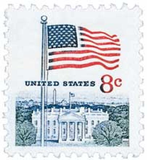1971 8c Flag and White House