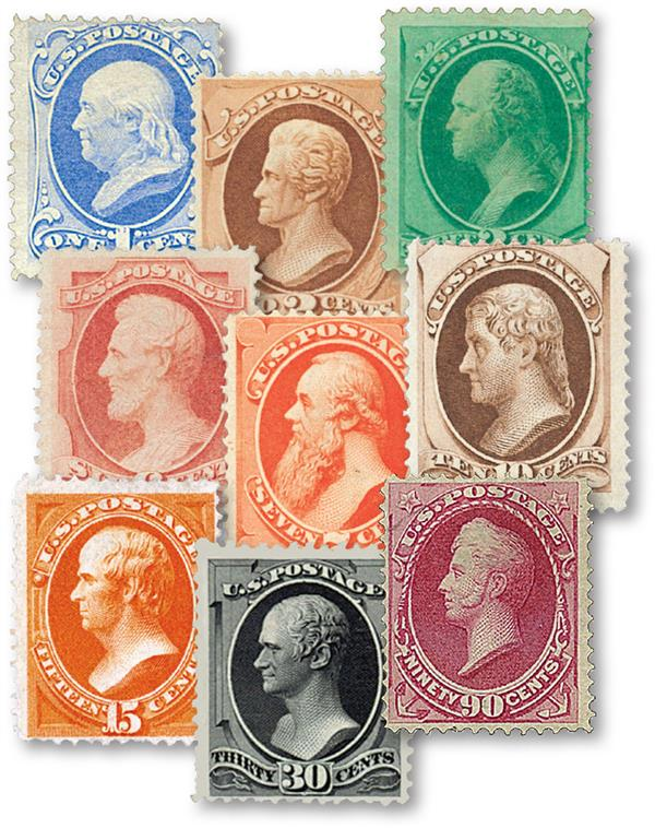 Complete Set, 1870-71 National Bank Note Printing H Grill
