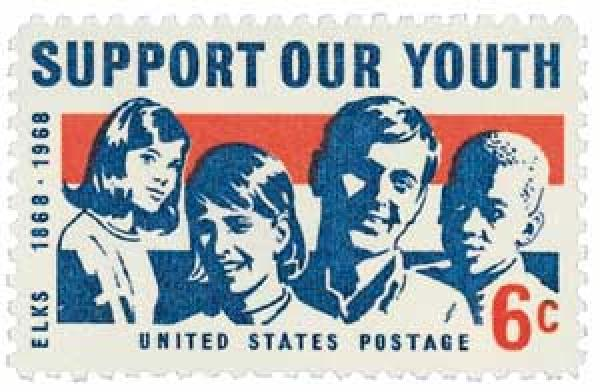 "1968 6c ""Support Our Youth"" - Elks"