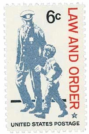 1968 Law and Order stamp