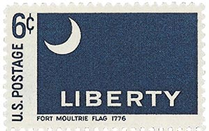 1968 6c Historic American Flags: Fort Moultrie