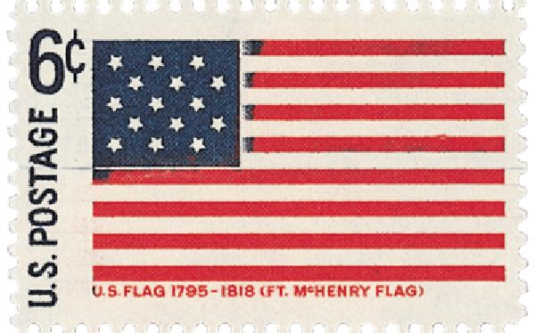 1968 Historic Flag Ft McHenry 6c