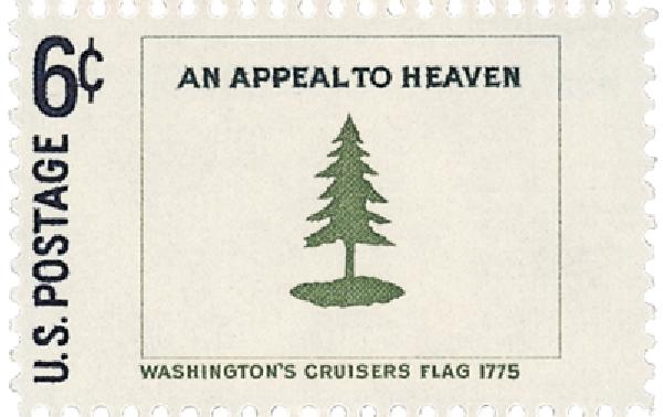 1968 6c Historic American Flags: Washingtons Cruisers