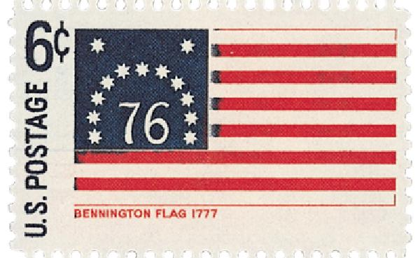1968 6c Historic American Flags: Bennington
