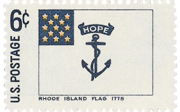 1968 6c Historic American Flags: Rhode Island