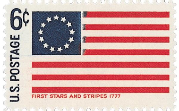 1968 6c Historic American Flags: First Stars and Stripes