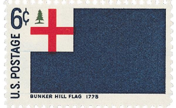 1968 6c Historic American Flags: Bunker Hill
