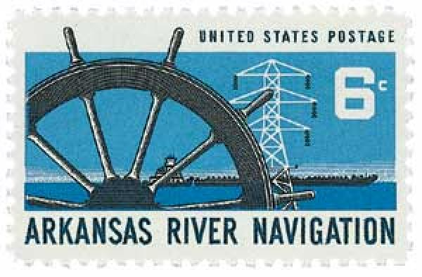 1968 6c Arkansas River Navigation