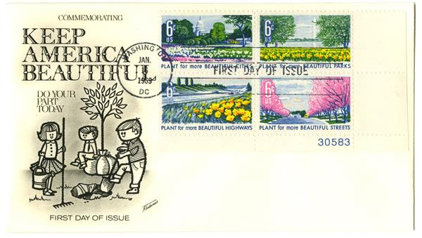 1969 6c Plant For Beautiful Cities-Parks Cmbo