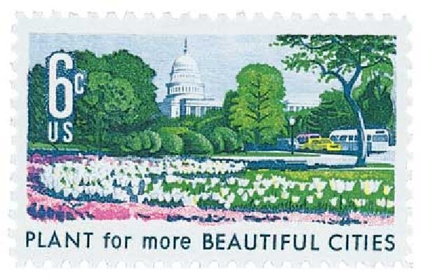 1969 6c Beautification of America: Plant for more Beautiful Cities