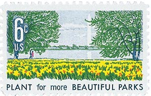 1969 6c Beautification of America: Plant for more Beautiful Parks