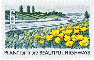 1969 6c Beautification of America: Plant for more Beautiful Highways