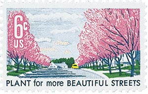 1969 6c Beautification of America: Plant for more Beautiful Streets