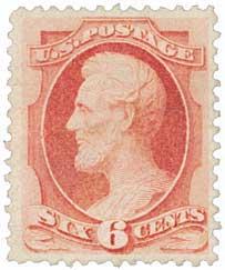 1870 6c Lincoln, carmine