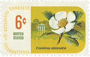1969 6c Botanical Congress Franklin Tree