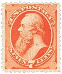 1871 7c Stanton, vermilion H Grill
